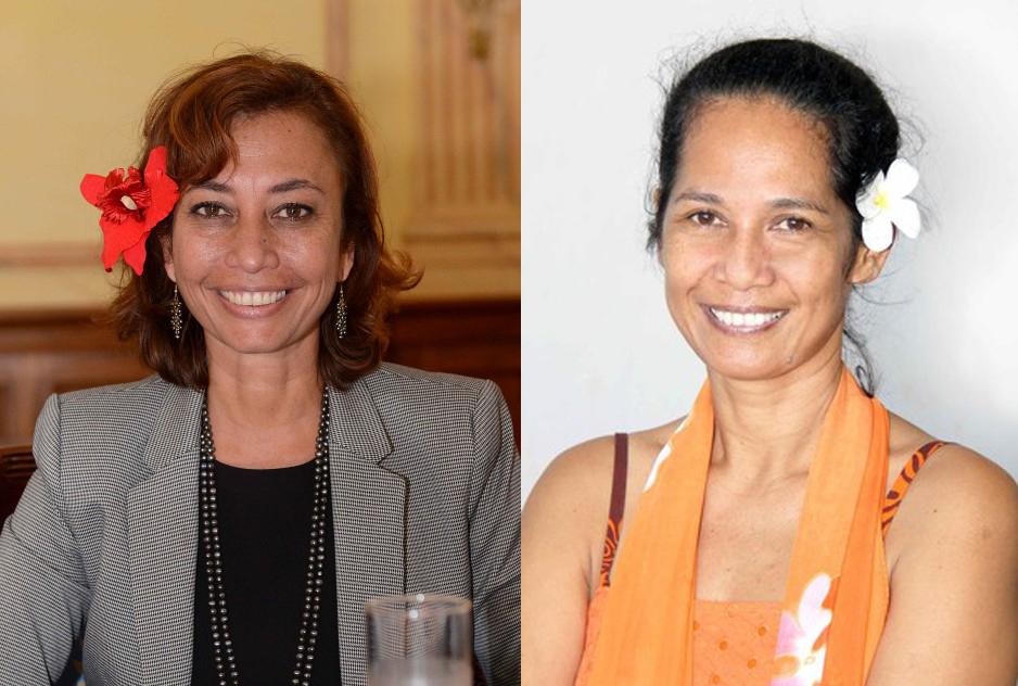 Nicole Sanquer et Teura Iriti ©TNTV