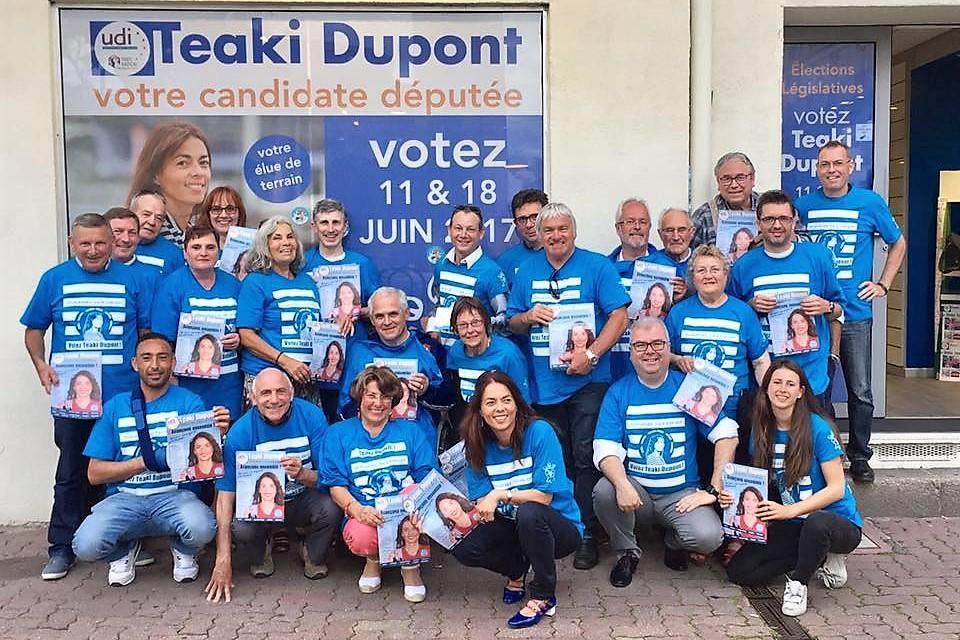 Pendant un an, Teaki Dupont-Teikivaeoho et son équipe de campagne ont sillonné la 5ème circonscription du Morbihan ©Facebook / Teaki Dupont-Teikivaeoho