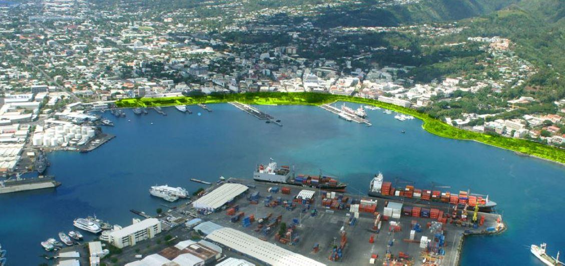 Le nouveau Terminal croisière devrait être dans le prolongement des Jardins de Paofai a annoncé le Port autonome de Papeete ©Port autonome de Papeete