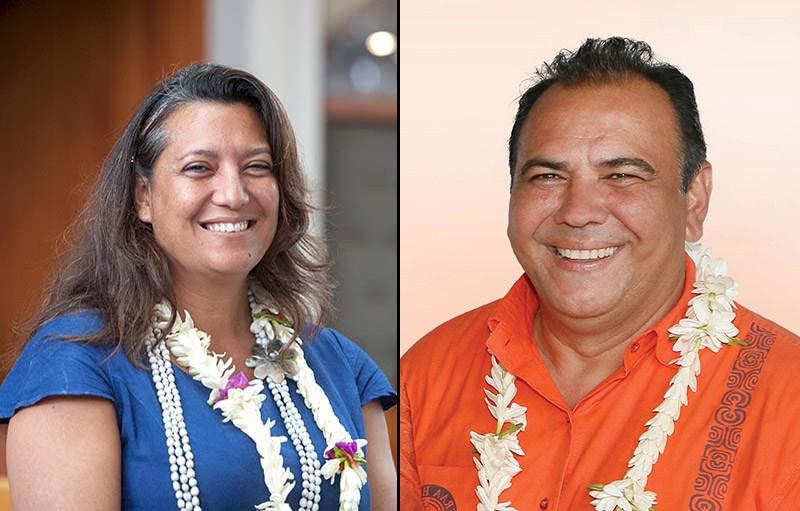Maina Sage et Moana Greig ©Radio 1 Tahiti