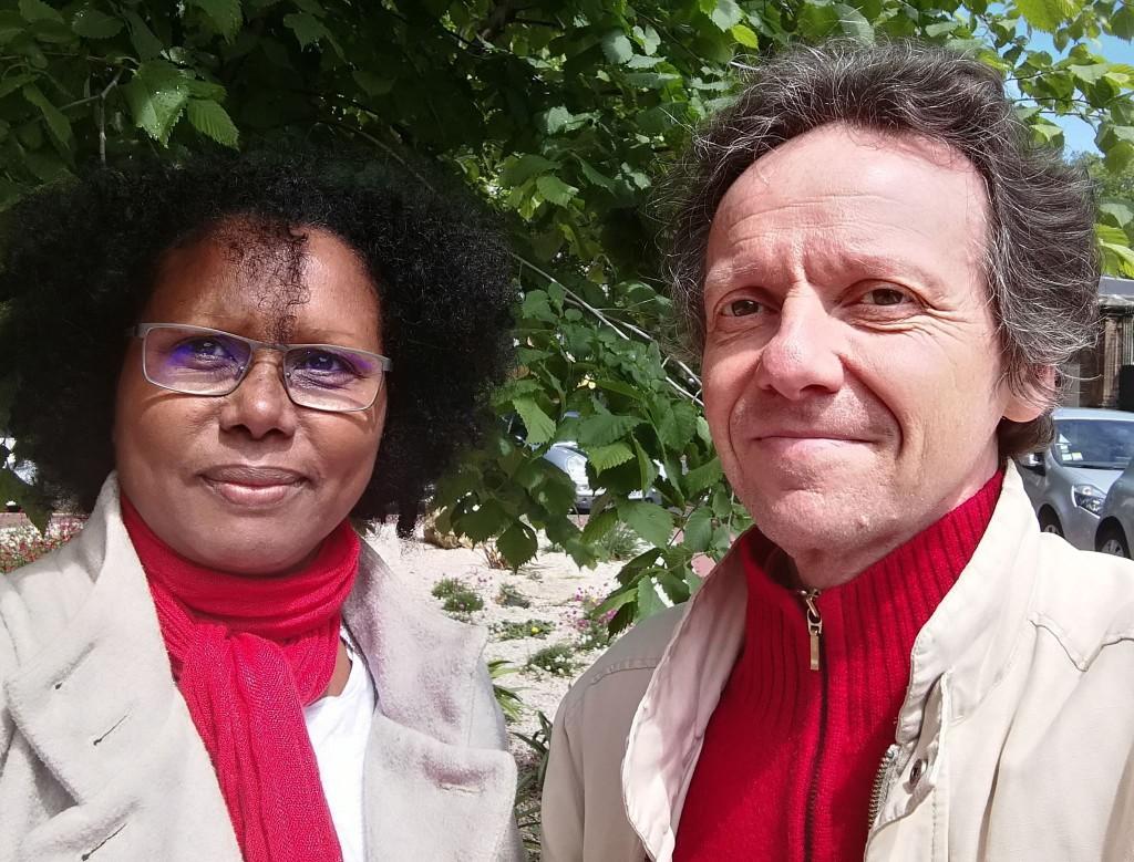 Marie-Ange Thébaud et son suppléant Nicolas Canzian © DR