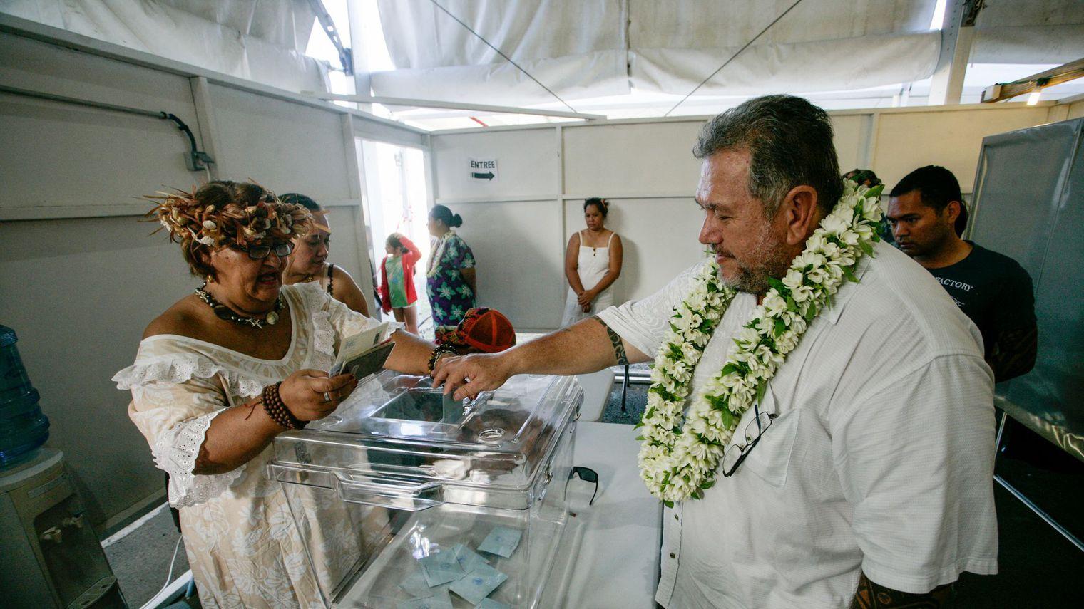 Moetai Brotherson a créé la surprise dans la 3ème circonscription polynésienne, lors des Législatives de juin 2017 ©Gregory Boissy - AFP