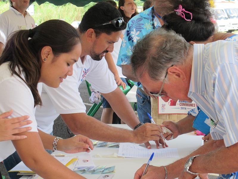 Accueil des congressistes en 2016, dans la commune de Taiarapu Est ©SPCPF