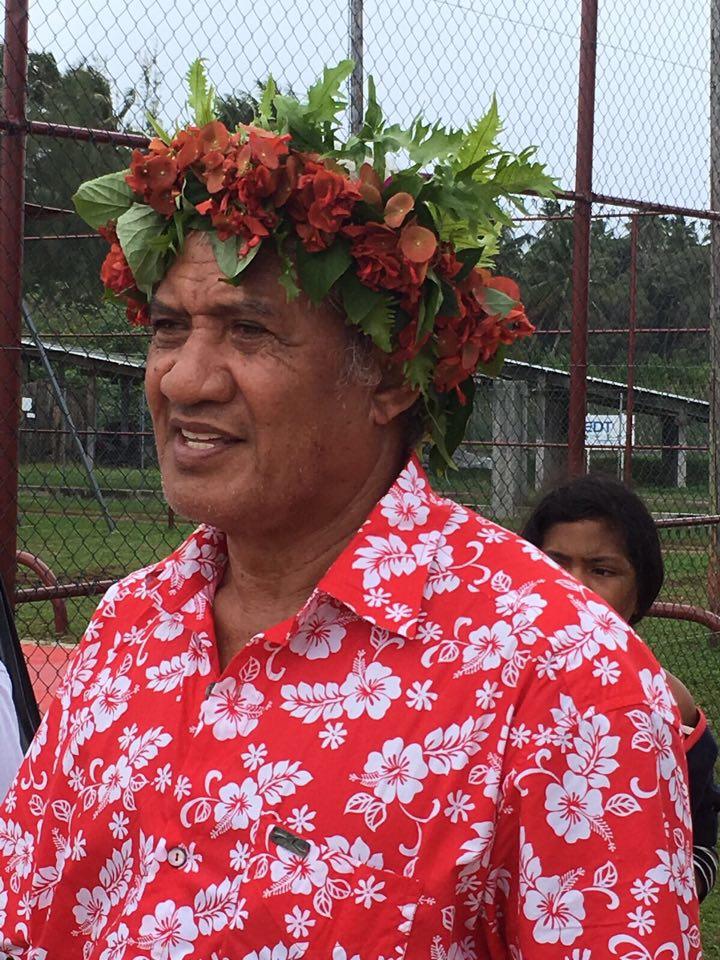 George Hatitio, maire de Rimatara, qui acceuillera les Vème jeux inter-îles des Australes ©Emelyne L