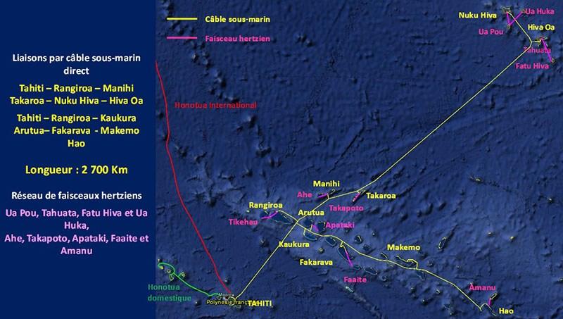 En plus d'un câble transpacifique avec la Nouvelle-Zélande notamment, la Polynésie a pour projet de relier ses archipels par un câble domestique ©Radio 1 Tahiti