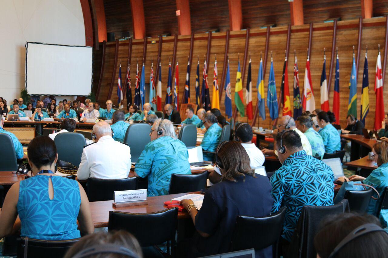 Yukiya Amano a présenté l'accord passé entre l'AIEA et la CPS lors de l'ouverture de la 10ème Conférence de la Communauté du Pacifique ©DR