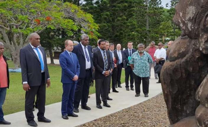 Jean-Jacques Urvoas, alors ministre de la Justice, en visite en Nouvelle-Calédonie ©CR / LNC