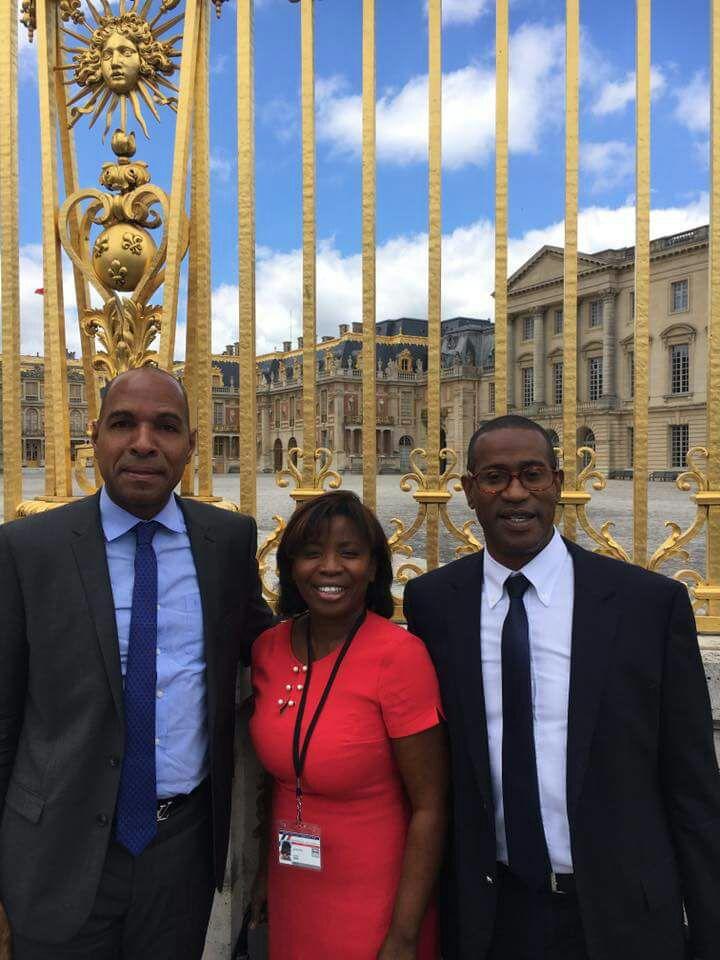 Les députés guadeloupéens: Olivier Serva, Justine Bénin et Max Mathiasin ©DR