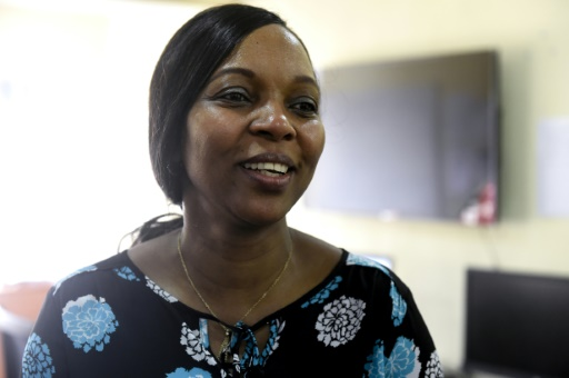 Bilikisu Labaran rédactrice en chef du site internet de la BBC en pidgin, à Lagos le 18 août 2017 ©Pius Utomi Ekpei / AFP