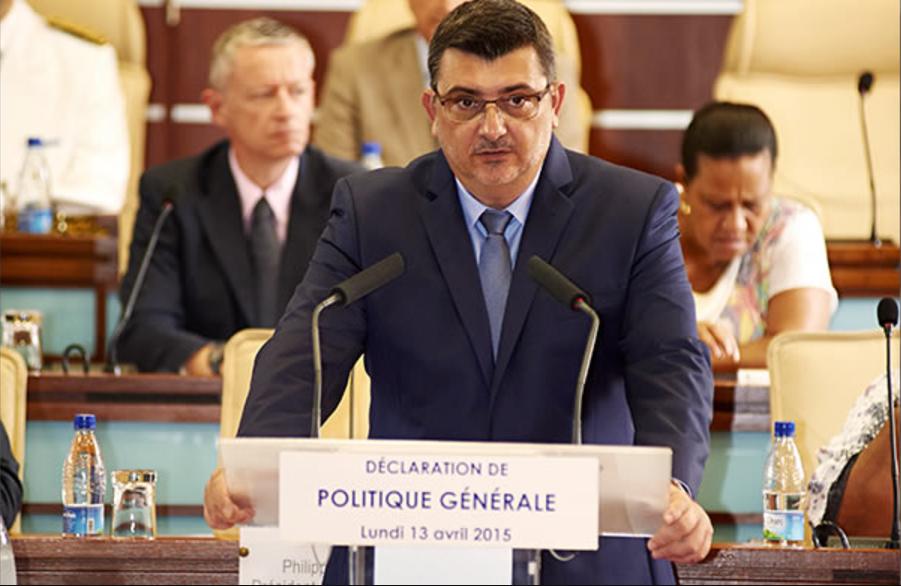 L'actuel Président du gouvernement calédonien, Philippe Germain, est candidat à sa succession ©Capture / DR