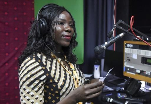 Princess Igho Williams, présentatrice de la BBC en pidgin, à Lagos le 18 août 2017 ©Pius Utomi Ekpei / AFP