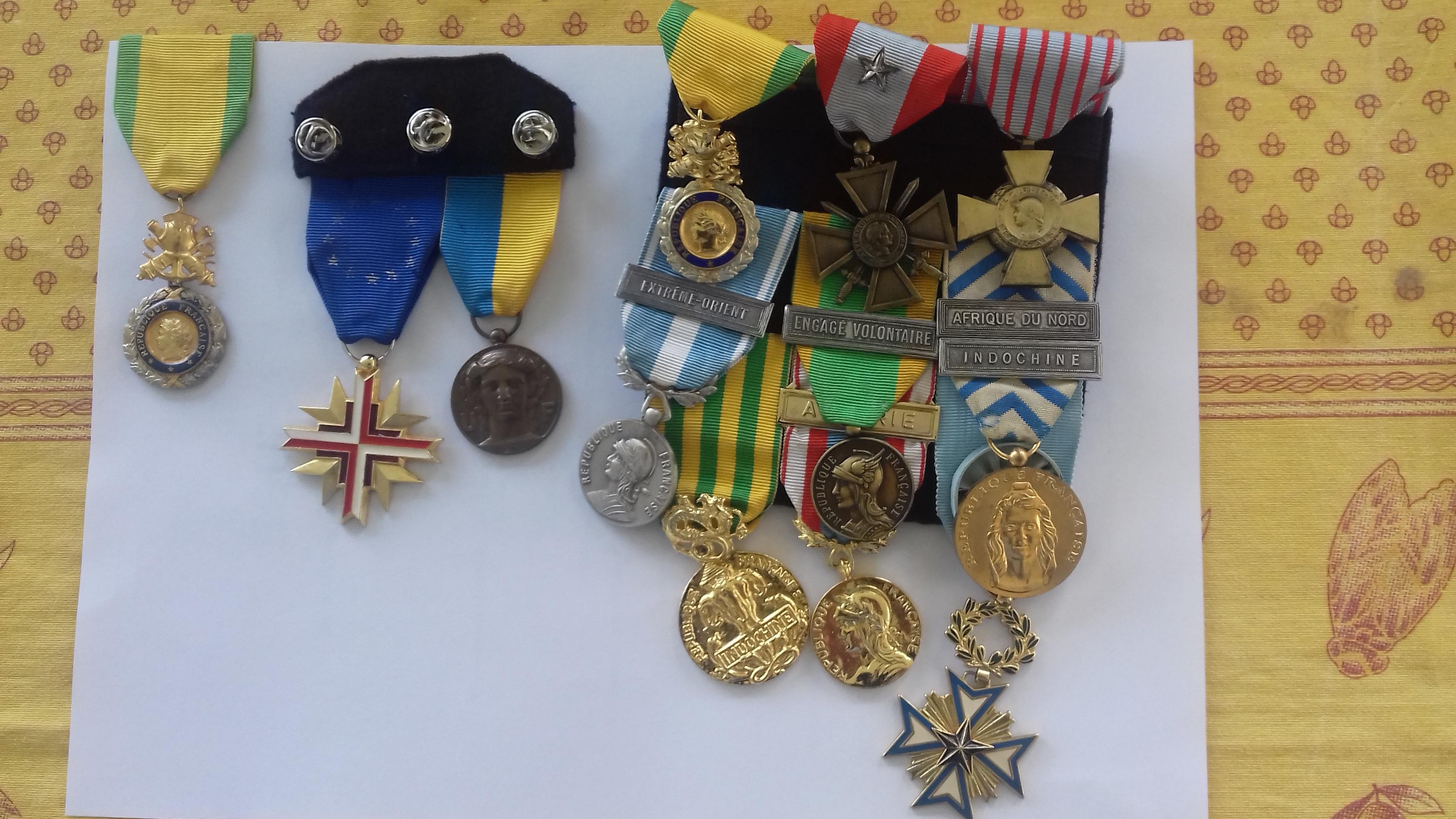 Médailles militaires de Félix Perina ©DR