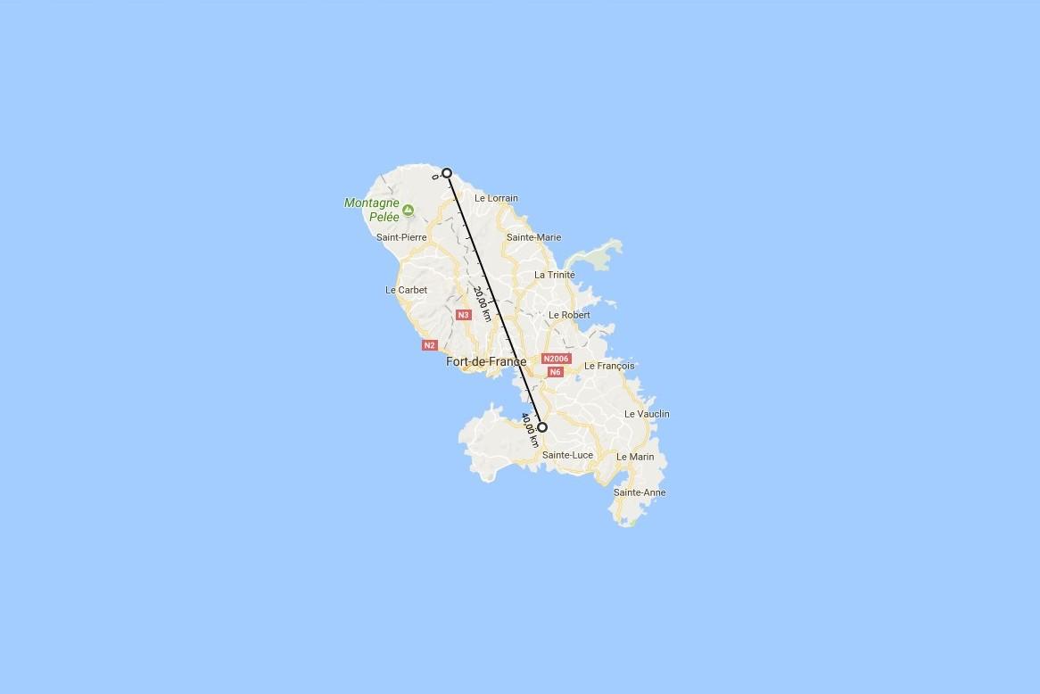 Les gros appareils électro-ménagers jetés annuellement en Martinique mis côte à côte formeraient un muret de près de 40 km, soit plus que la distance entre l'aéroport Aimé Césaire et Basse pointe