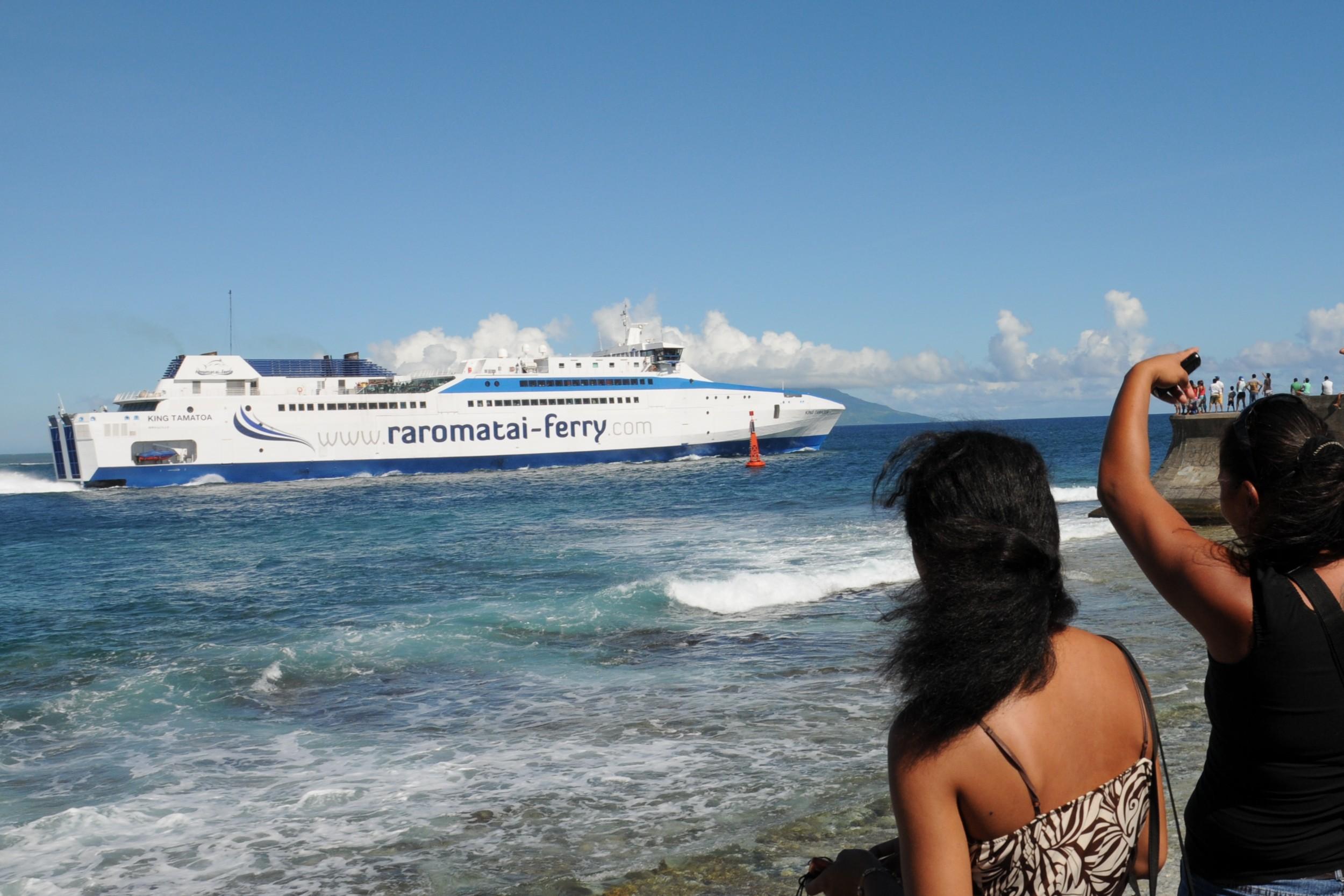 En 2010, Bill ravel lançait le ferry King Tamatoa sur la desserte maritime des Îles-sous-le-Vent. Une aventure de courte durée ©Louis Laplane