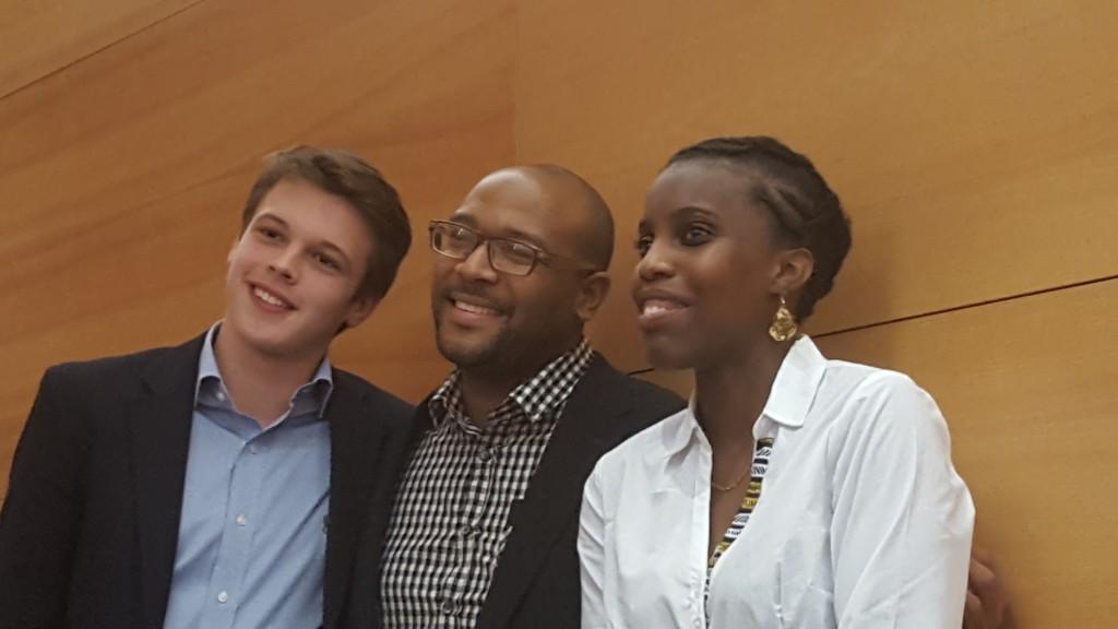 Les trois finalistes du concours d'éloquence ultramarine : Arthur Lepelltier-Beaufond, Kenny Bracqmort et Jennifer ZIg