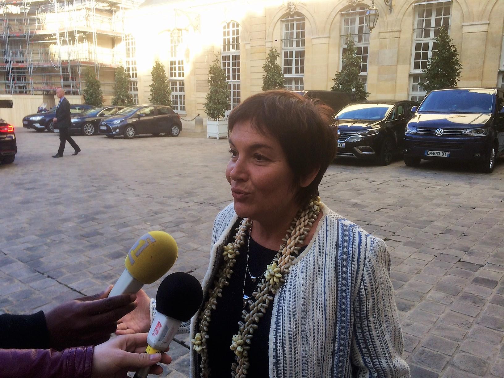La Ministre des Outre-mer était également présente à ce rendez-vous ©Outremers360