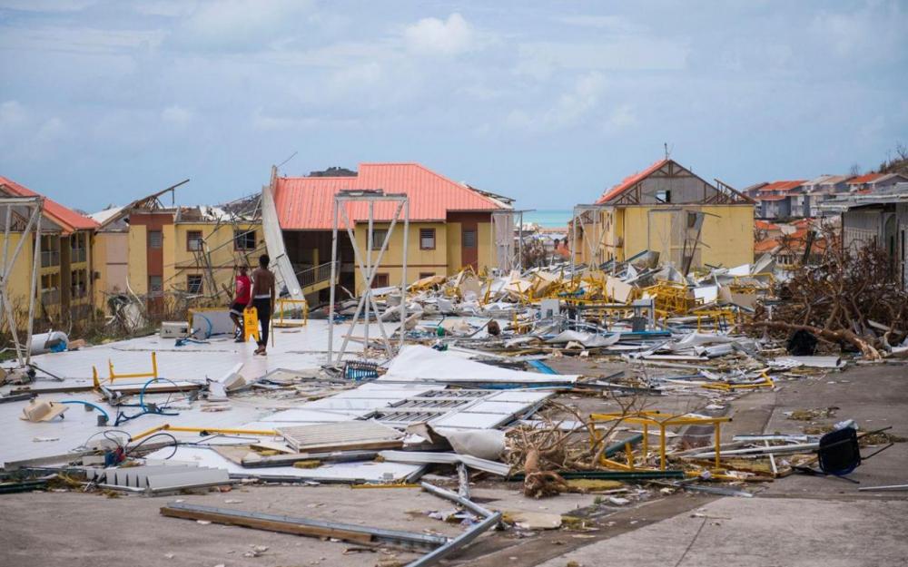Saint-Martin le 7 septembre, après le passage de l'ouragan Irma ©Lionel Chamoiseau / AFP