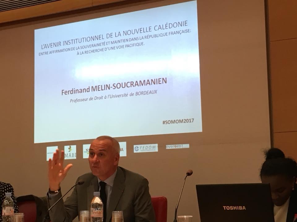 Le Constitutionnaliste Ferdinand Melin-Soucramanien a rappelé l'importance de mettre cette année avant le référendum de 2018 à profit pour penser à l'après-référendum