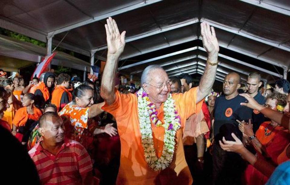 En 2013, Gaston Flosse avait fait un retour triomphal à la tête de la Polynésie, avant d'être condamné en 2014. Sa participation aux prochaines territoriales reste en suspend Illustration ©Gregory Boissy / AFP