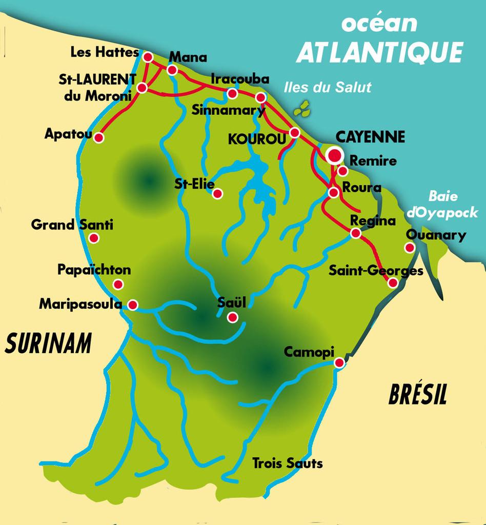 La Ville de Saint-Laurent du Maroni se situe à l'extrême ouest de la Guyane, à la frontière avec le Surinam