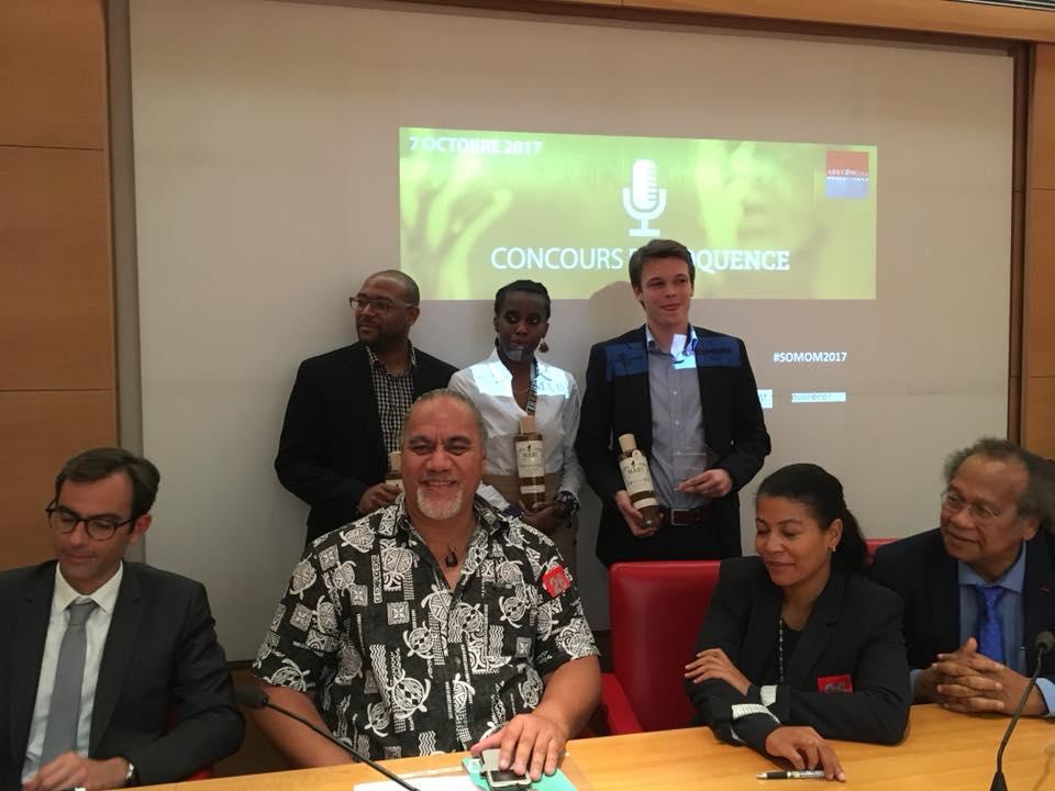 Les lauréats et les membres du jury, du Prix Gaston Monnerville