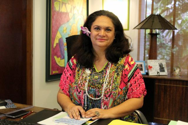 Nicole Bouteau, Ministre du Tourisme de la Polynésie française ©Tahiti-infos