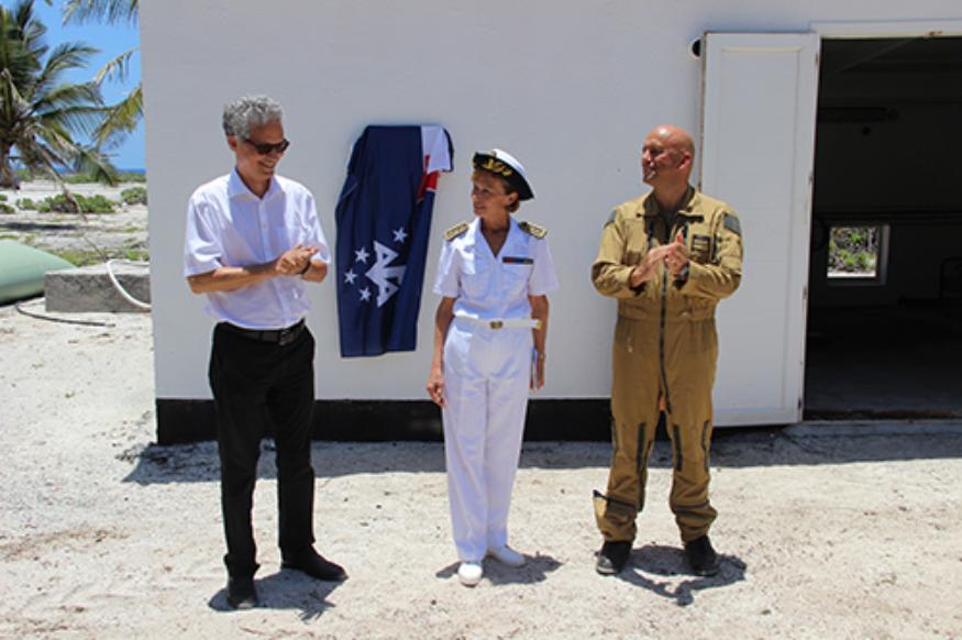 Cette centrale photovoltaïque a été inaugurée en présence du préfet des TAAF, Cécile ©Taaf.fr