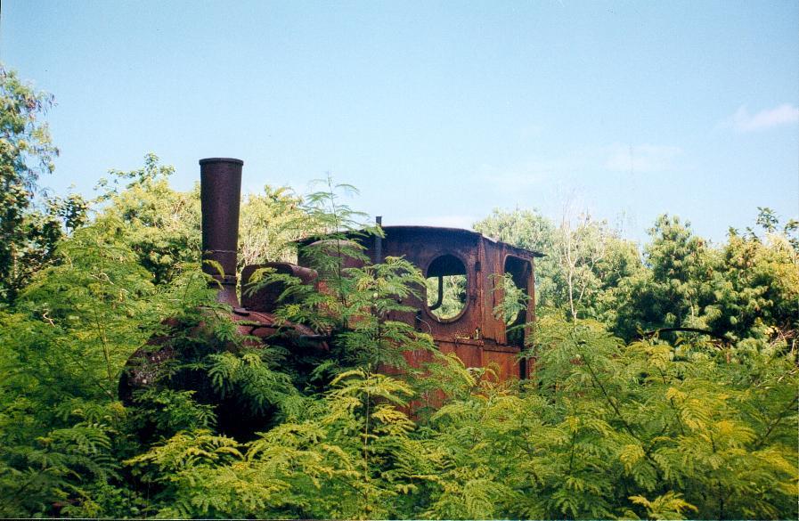 Une locomotive servant au transport du phosphate entre 1917 et 1966 ©DR