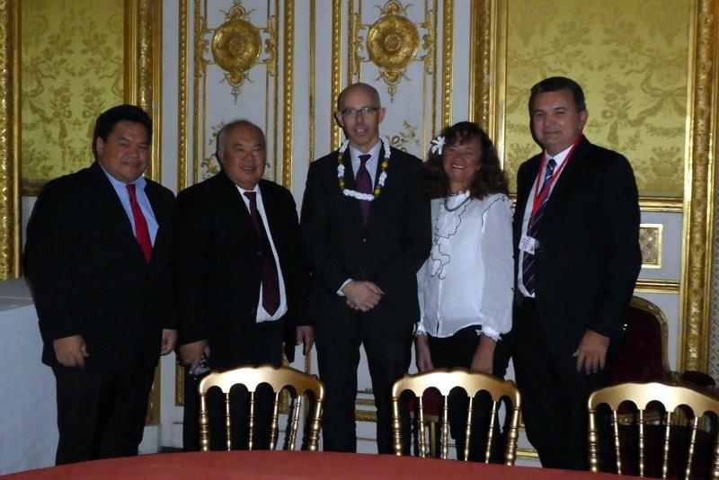 Avec une petite délégation, Cyril Tetuanui a rencontré les Conseillers Outre-mer de l'Elysée (en photo) et de Matignon, ainsi que le Directeur de cabinet du Ministère des Outre-mer et de l'Intérieur ©SPCPF