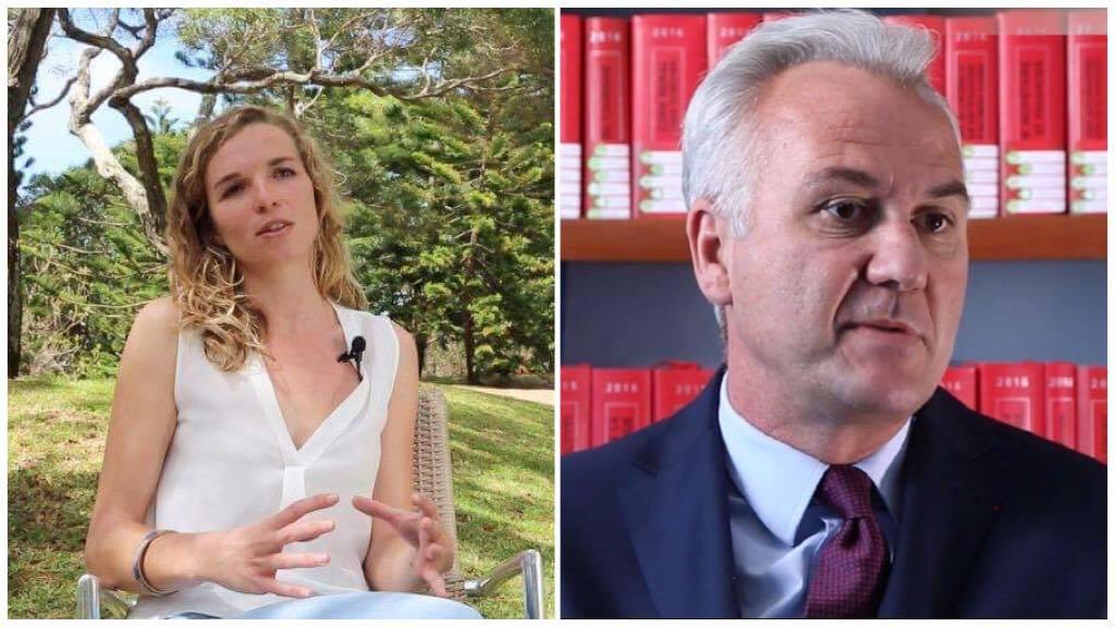 Léa Havard  et Ferdinand Melin-Soucramanien ©La Dépêche de Nouvelle-Calédonie / Capture Youtube