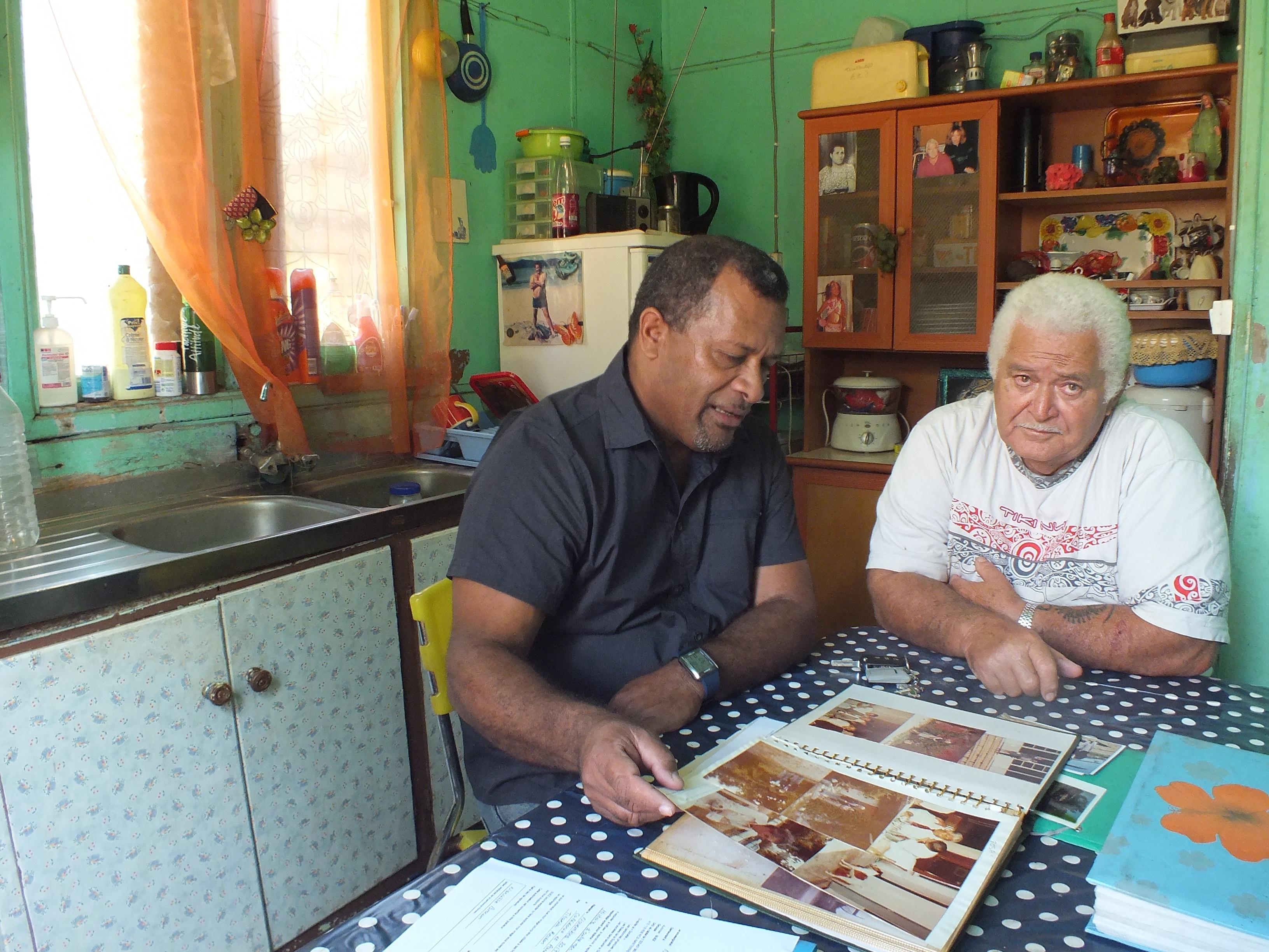 Didier Poidyaliwane et Narcisse Brown ©D. Poidyaliwane / TR / Suez Outre-mer