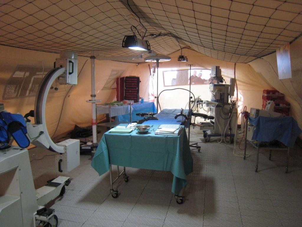 Le service d'urgences dans l'hôpital provisoire © ARS Guadeloupe