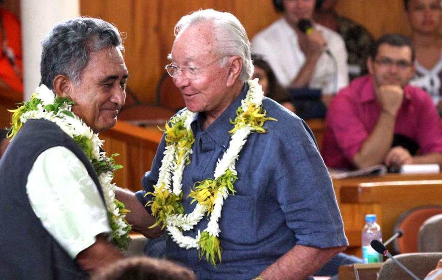 Oscar Temaru, leader indépendantiste et principal opposant politique de Gaston Flosse ©SIPA
