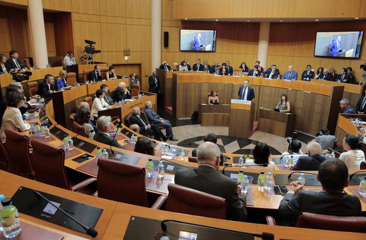 Sous sa précédente mandature, l'Assemblée corse avait déjà voté une délibération allant dans le sens d'un statut spécifique ©Pascal Pochard-Casabianca / AFP