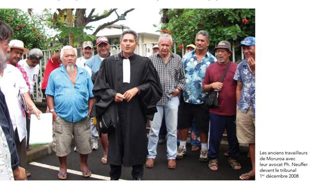 Anciens travailleurs de Moruroa au tribunal de Papeete