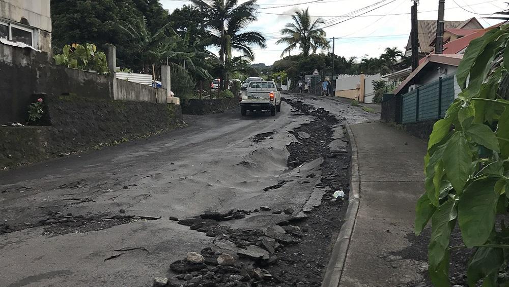 Route détruite au Tampon après le passage de Berguitta © Freedom