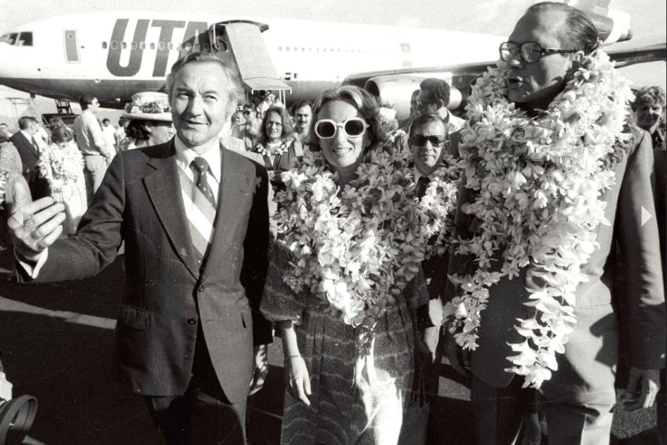 Gaston Flosse, proche de Jacques Chirac, était également co-fondateur du RPR ©Francis Apesteguy / SIPA