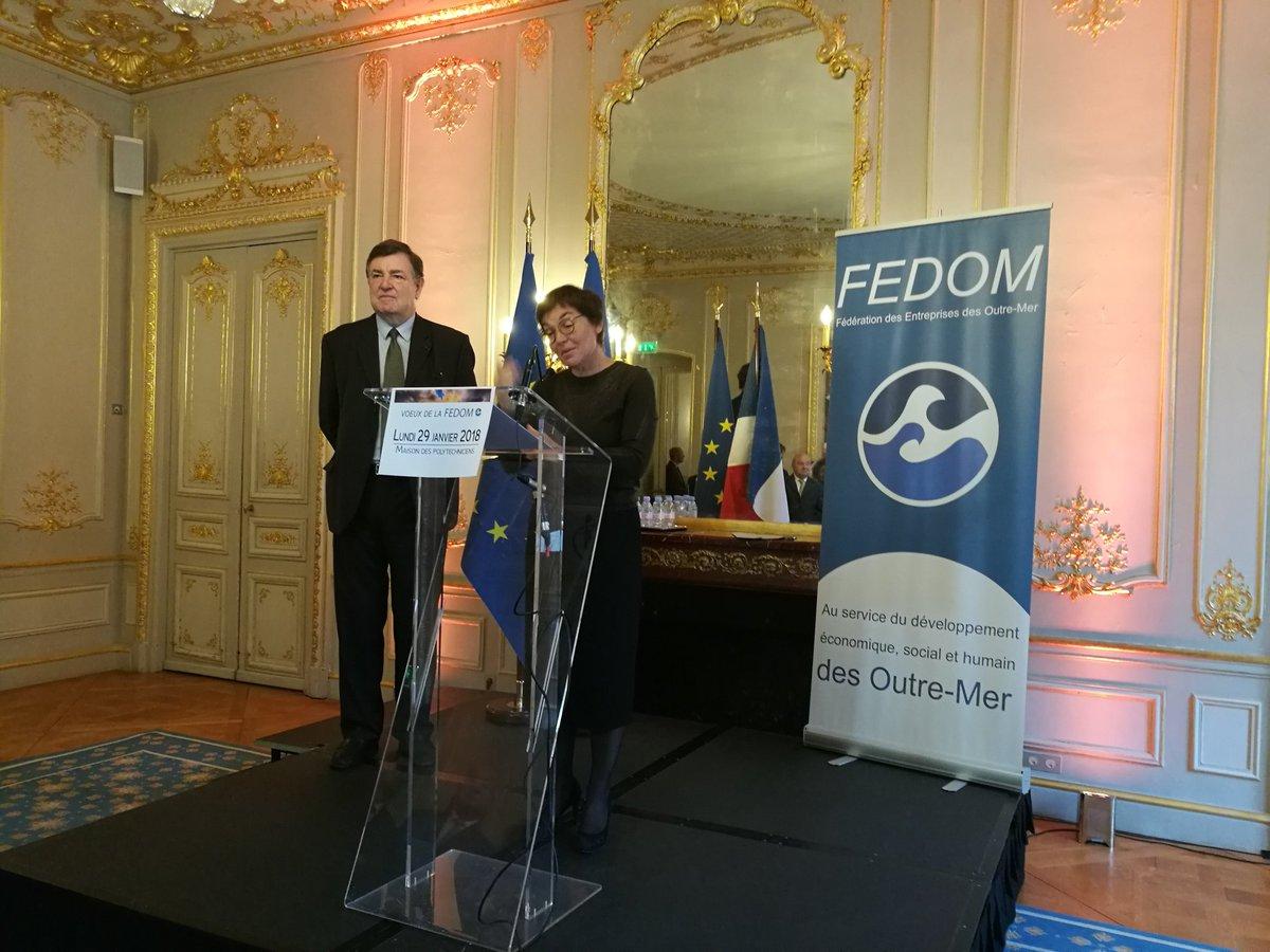 Voeux de la Fedom 2018: La Fedom et la Ministre des Outre-mer favorables à une simplification des aides économiques en Outre-mer