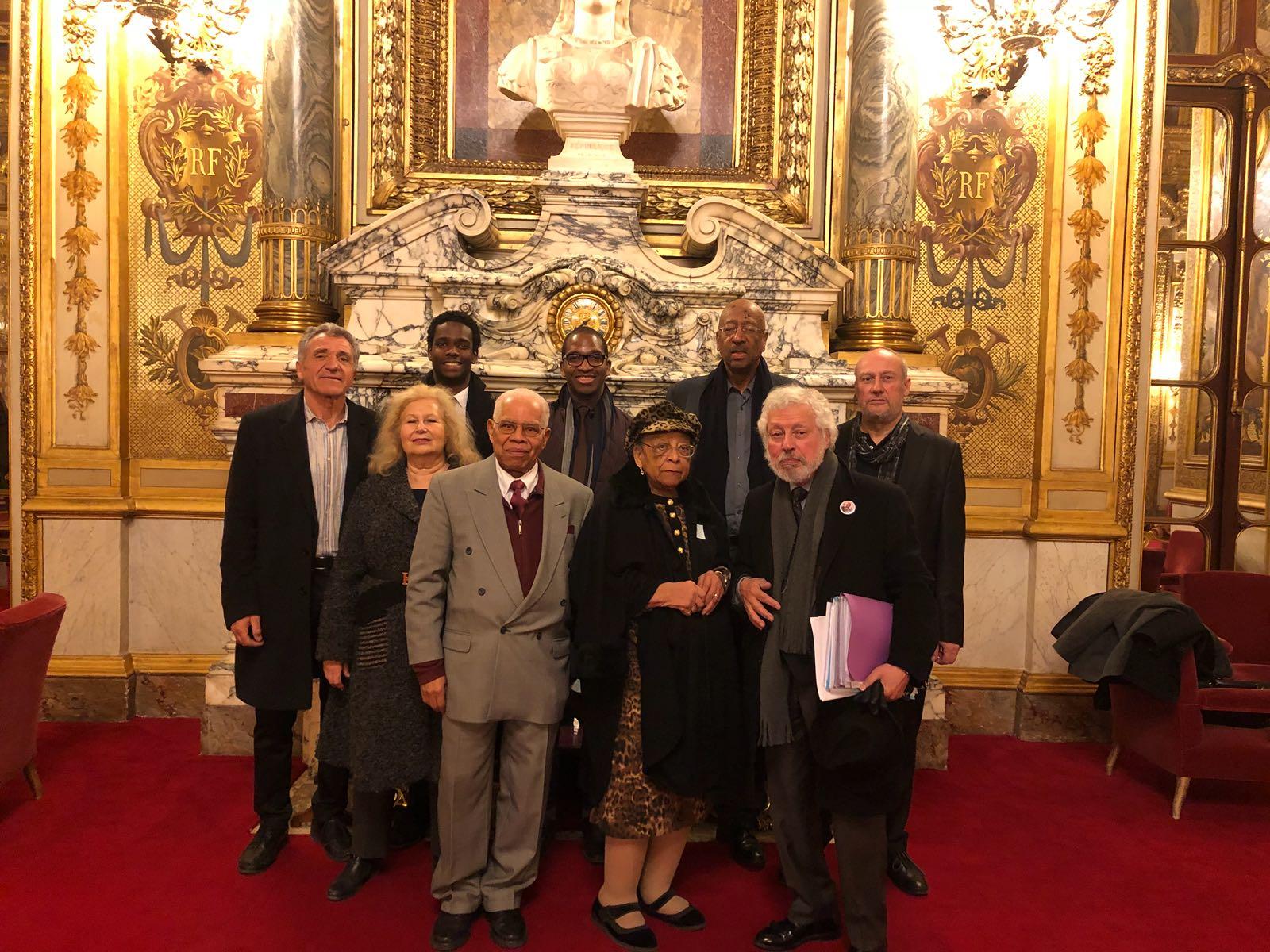 Le Conseil d'administration de la Société des Amis du Président Gaston Monnerville, après son Assemblée générale du vendredi 16 février ©DR