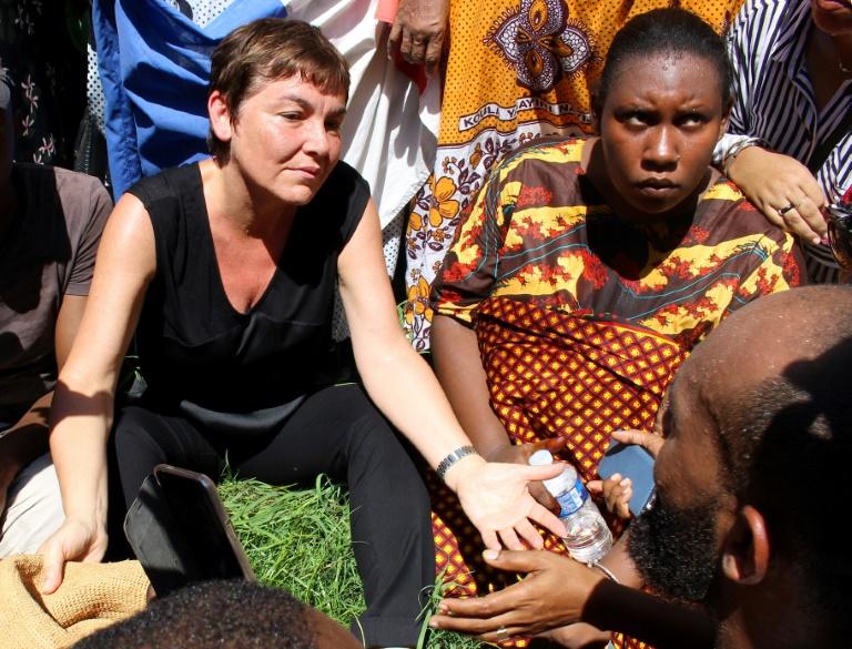 """Annick Girardin """"a toute la légitimité et toute latitude pour intervenir"""", assure Benjamin Griveaux ©Ornella Lamberti / AFP"""