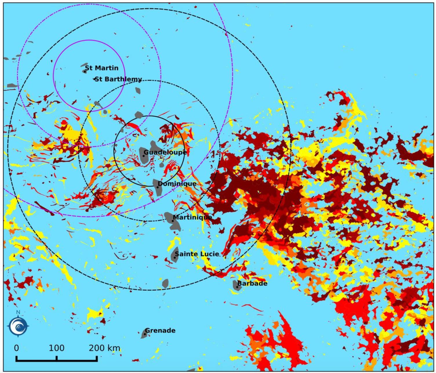 carte sargasses guadeloupe 2020 Guadeloupe: Les algues sargasses envahissent le littoral, le
