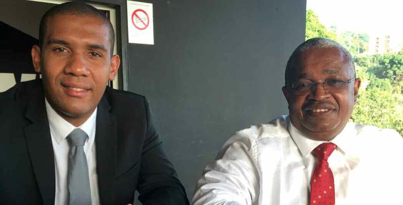 Elad Chakrina, candidat LR et Mansour Kamardine, député LR de Mayotte ©Capture