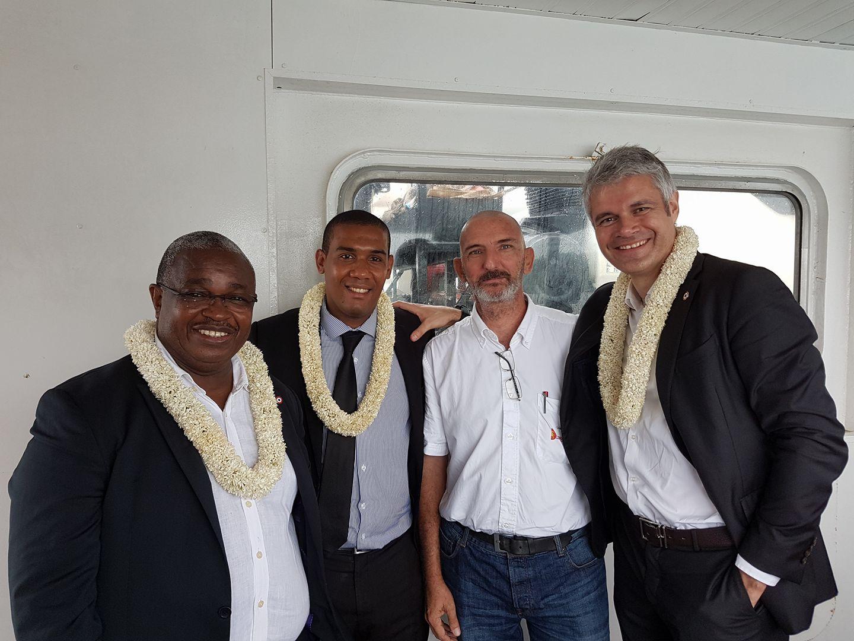 Laurent Wauquiez s'est récemment rendu à Mayotte, aux côtés de Mansour Kamardine et Elad Chakrina ©Vincent Schublin