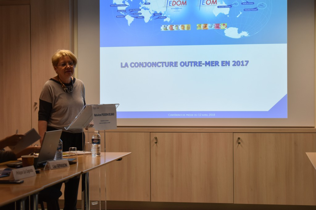 La conjoncture économique 2017 en Outre-mer a évolué favorablement selon Marie-Anne Poussin-Delmas © Outremers 360