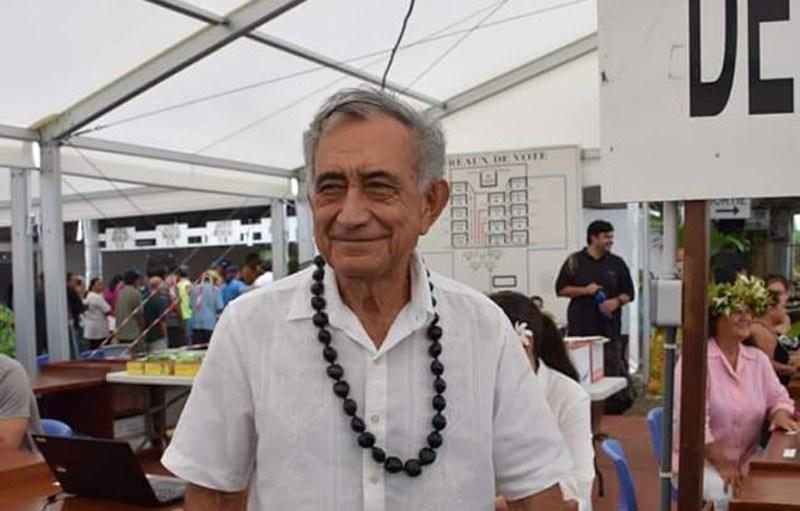 Pour le 2nd tour, Oscar Temaru mise encore sur la probité et la protection de l'emploi local pour convaincre ©Radio 1 Tahiti