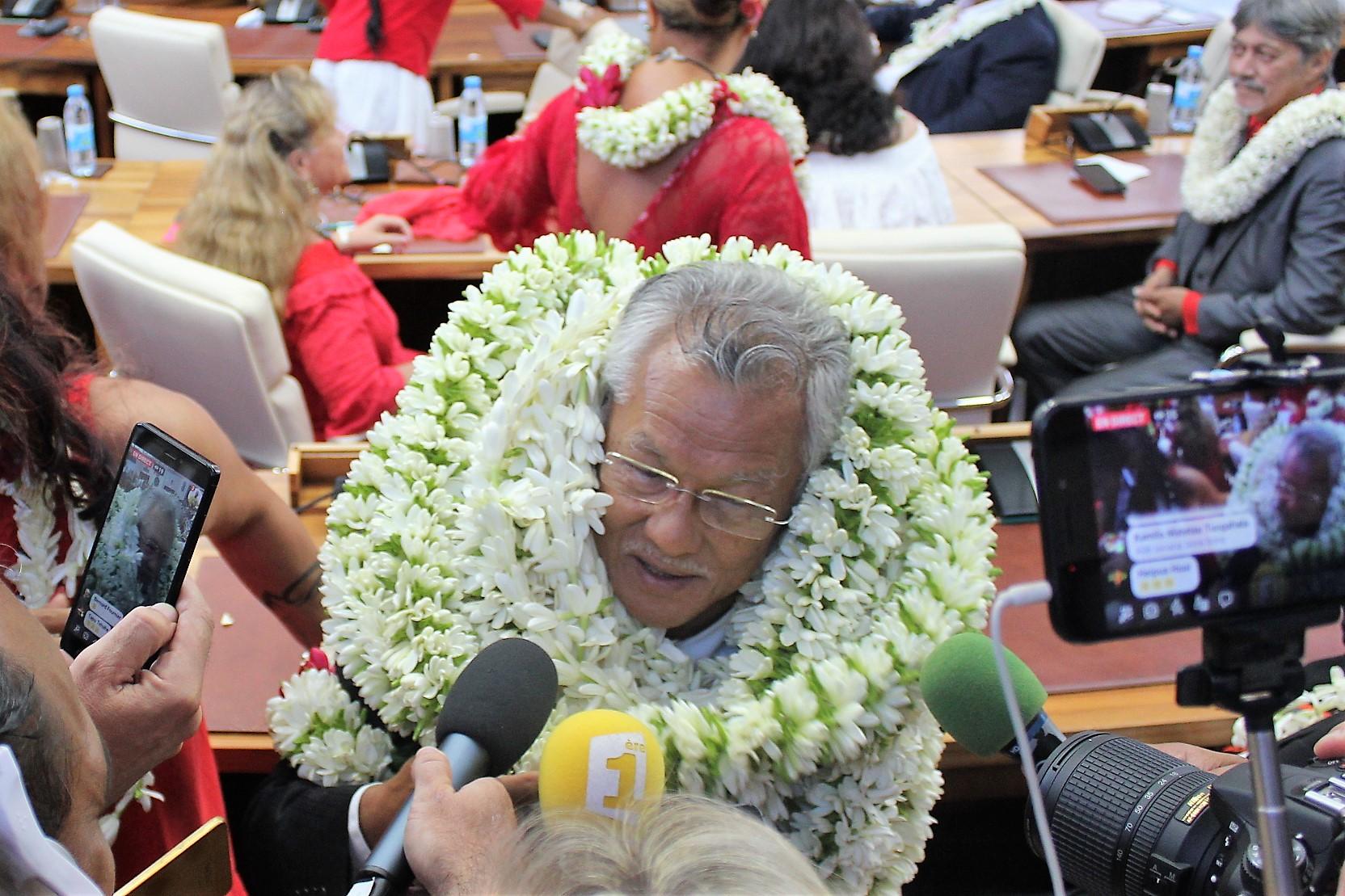 Politique en Polynésie : Gaston Tong Sang, élu Président de l'Assemblée de la Polynésie française