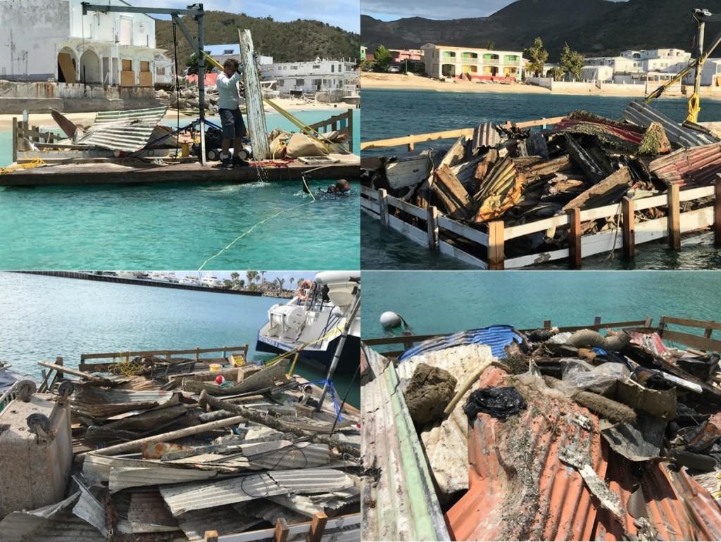 La Collectivité de Saint-Martin a également lancé une opération de nettoyage de ses fonds marins © Collectivité de Saint-Martin