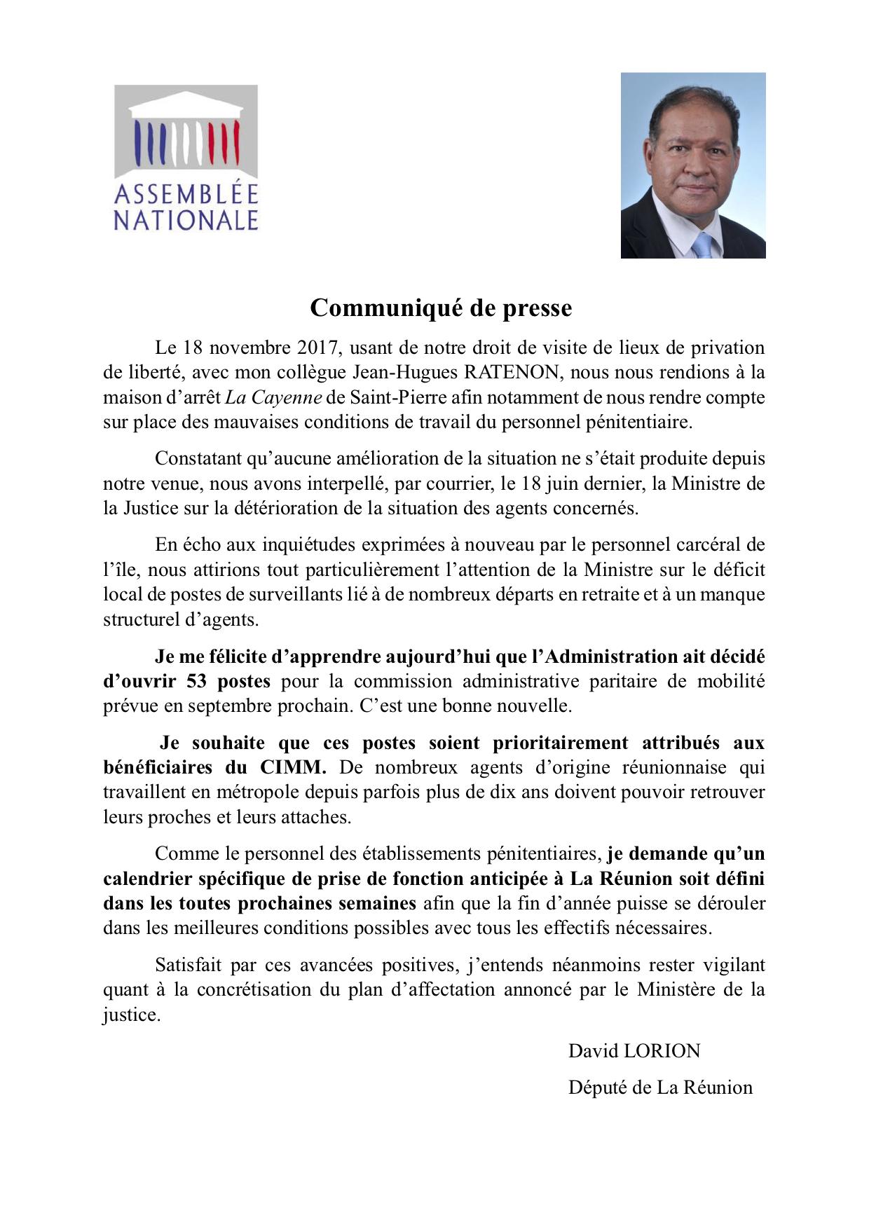 CP Création de postes surveillants pénitentiaires La Réunion - copie