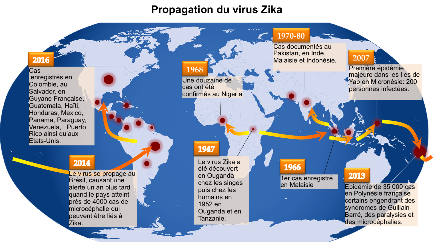 Figure 1 - Propagation du virus Zika - copie