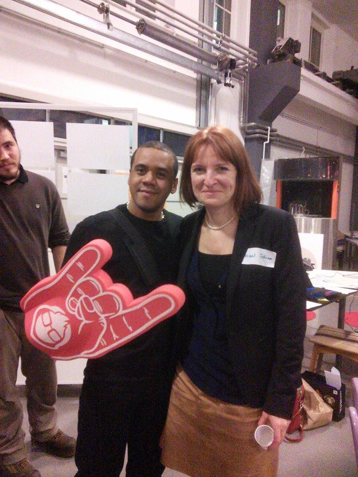 Avec Hedina Heal, Directrice de Google Hongrie ©DR